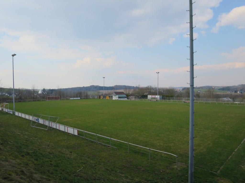 Der 2014 neu angelegte Naturrasenplatz des TSV Hämmern