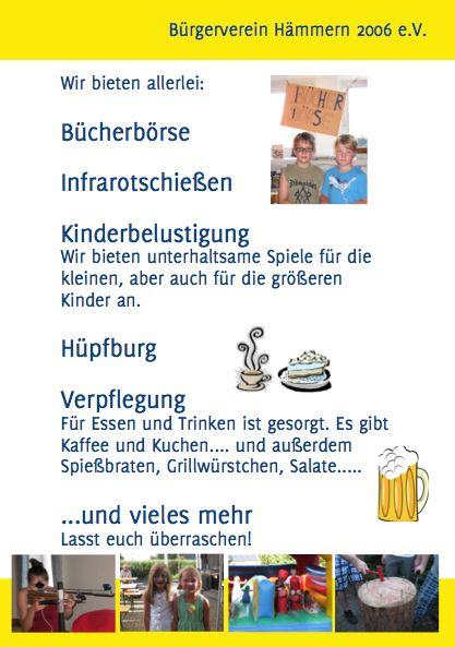 Flyer Bürgerfest Rückseite