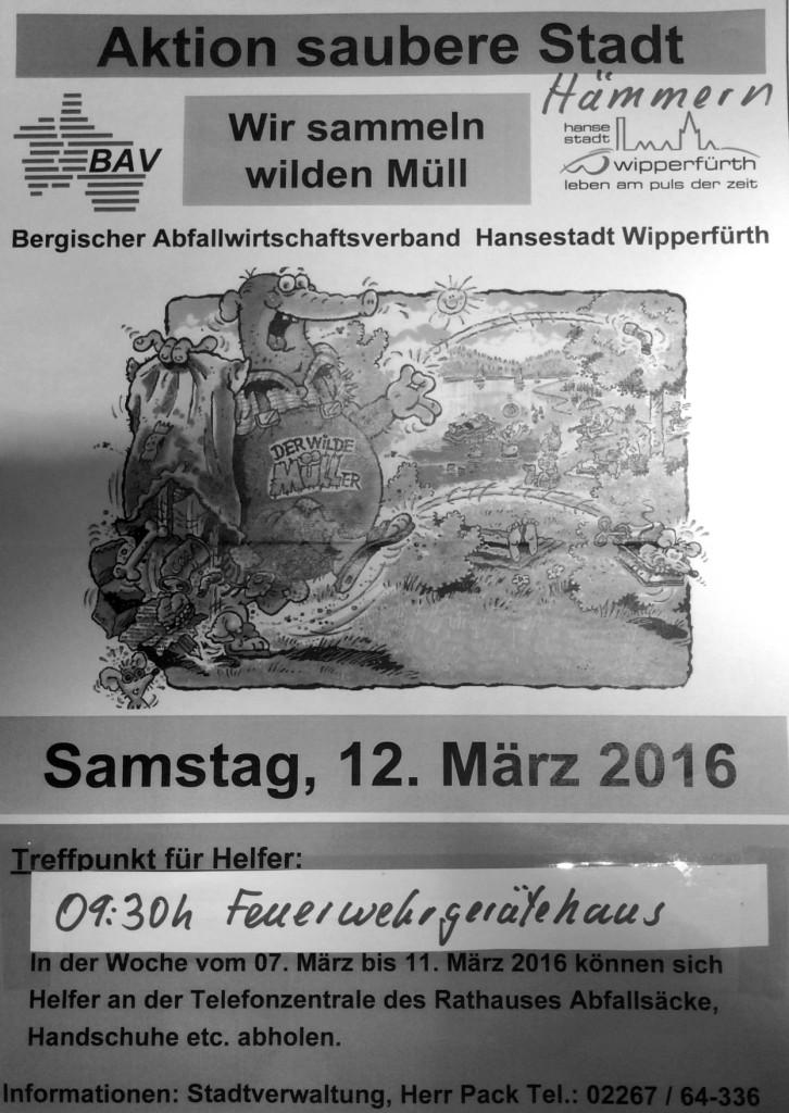 Müll sammeln 12.03.2016