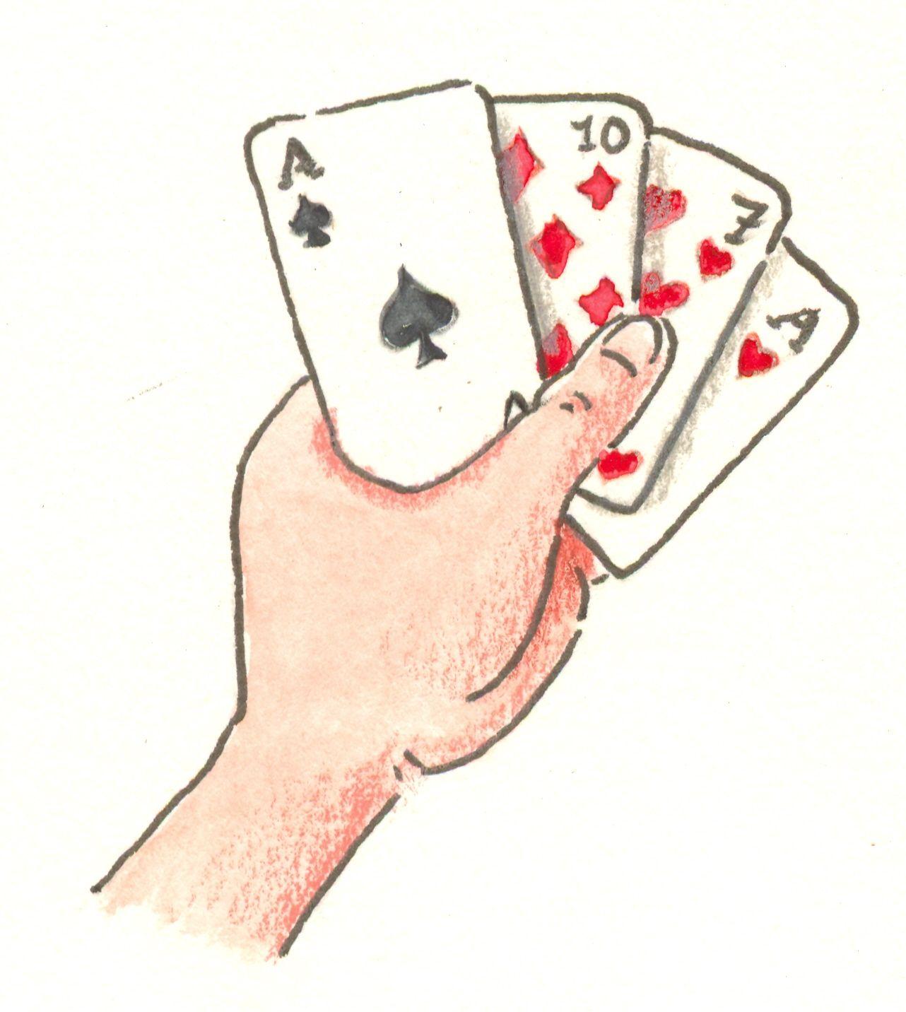 kartenspiel 19 und 4